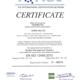 IQ Net - Quality Managment System - EN ISO 13485 : 2012